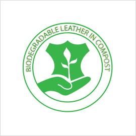 certificazione di pelle biodegradabile e compostabile